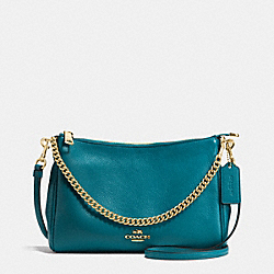 CARRIE CROSSBODY IN PEBBLE LEATHER - f36666 - IMITATION GOLD/ATLANTIC