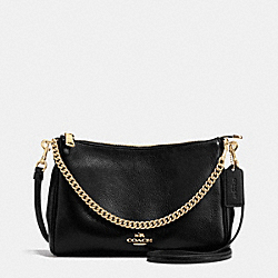 COACH F36666 - CARRIE CROSSBODY IN PEBBLE LEATHER IMITATION GOLD/BLACK