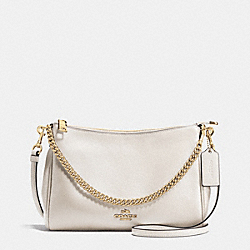 CARRIE CROSSBODY IN PEBBLE LEATHER - f36666 - IMITATION GOLD/CHALK