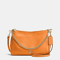 COACH F36666 Carrie Crossbody In Pebble Leather IMITATION GOLD/ORANGE PEEL