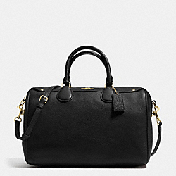 COACH F36672 - BENNETT SATCHEL IN PEBBLE LEATHER IMITATION GOLD/BLACK