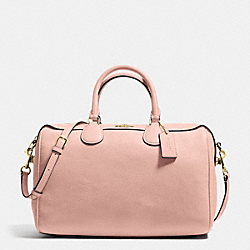 COACH F36672 Bennett Satchel In Pebble Leather  IMITATION GOLD/PEACH ROSE