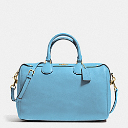 COACH F36672 Bennett Satchel In Pebble Leather IMITATION GOLD/BLUEJAY