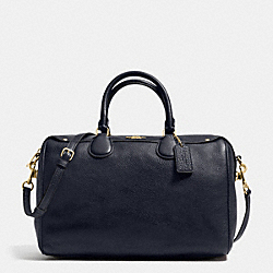 COACH F36672 Bennett Satchel In Pebble Leather  IMITATION GOLD/MIDNIGHT