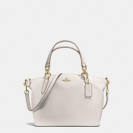 COACH f36675 SMALL KELSEY SATCHEL IN PEBBLE LEATHER IMITATION GOLD CHALK 926de461954a8