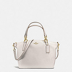 SMALL KELSEY SATCHEL IN PEBBLE LEATHER - f36675 - IMITATION GOLD/CHALK