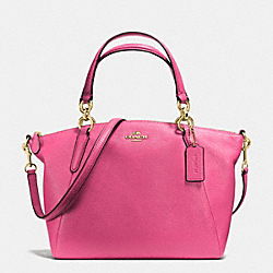 SMALL KELSEY SATCHEL IN PEBBLE LEATHER - f36675 - IMITATION GOLD/DAHLIA