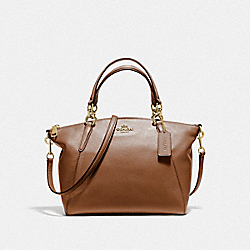 SMALL KELSEY SATCHEL - F36675 - SADDLE 2/GOLD