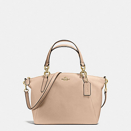 COACH f36675 SMALL KELSEY SATCHEL IN PEBBLE LEATHER IMITATION GOLD/BEECHWOOD