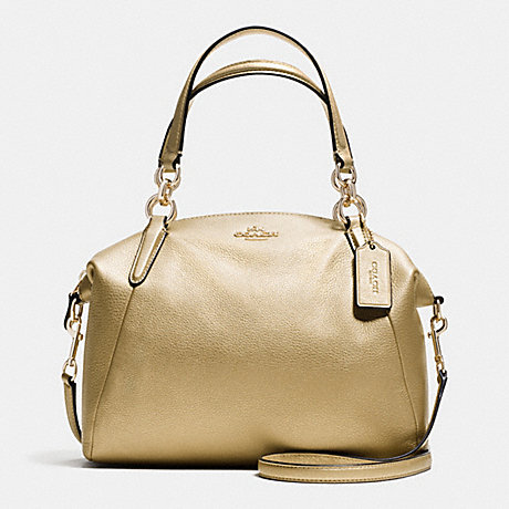 COACH f36675 SMALL KELSEY SATCHEL IN PEBBLE LEATHER IMITATION GOLD/GOLD