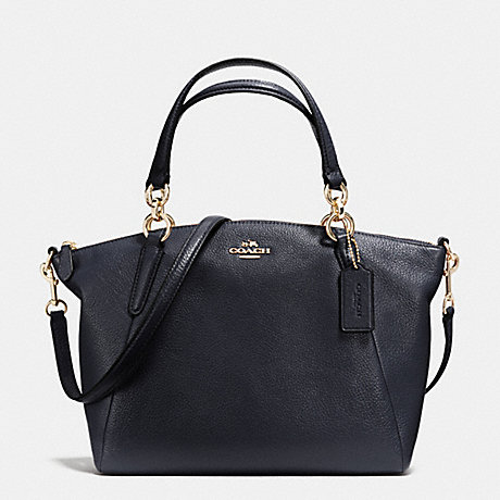 COACH f36675 SMALL KELSEY SATCHEL IN PEBBLE LEATHER IMITATION GOLD/MIDNIGHT