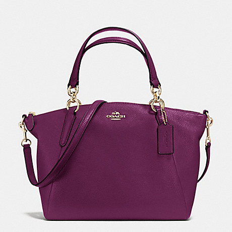 COACH f36675 SMALL KELSEY SATCHEL IN PEBBLE LEATHER IMITATION GOLD/PLUM