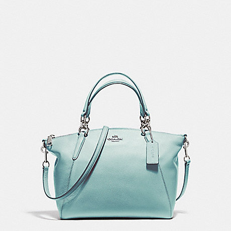 COACH f36675 SMALL KELSEY SATCHEL SILVER/SEA GREEN