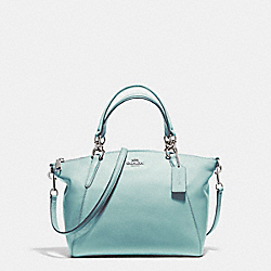 SMALL KELSEY SATCHEL - f36675 - SILVER/SEA GREEN