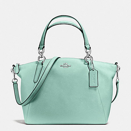 COACH f36675 SMALL KELSEY SATCHEL IN PEBBLE LEATHER SILVER/SEAGLASS