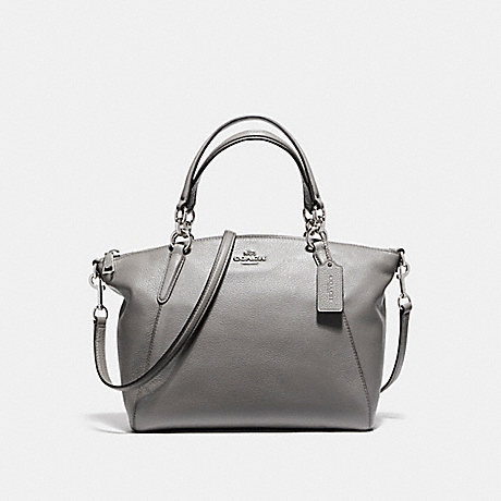 COACH f36675 SMALL KELSEY SATCHEL IN PEBBLE LEATHER SILVER/HEATHER GREY