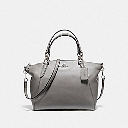 SMALL KELSEY SATCHEL IN PEBBLE LEATHER - f36675 - SILVER/HEATHER GREY