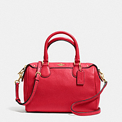 COACH F36677 - MINI BENNETT SATCHEL IN PEBBLE LEATHER IMITATION GOLD/CLASSIC RED