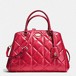 COACH F36679 - SMALL MARGOT CARRYALL IN QUILTED LEATHER IMITATION GOLD/CLASSIC RED