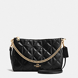 COACH F36682 - CARRIE CROSSBODY IN QUILTED LEATHER IMITATION GOLD/BLACK
