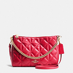 COACH F36682 Carrie Crossbody In Quilted Leather IMITATION GOLD/CLASSIC RED