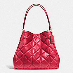COACH F36696 - PHOEBE SHOULDER BAG IN QUILTED LEATHER IMITATION GOLD/CLASSIC RED