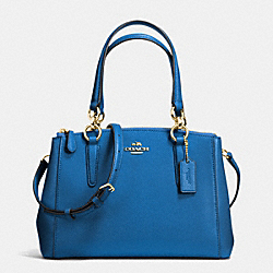 COACH F36704 - MINI CHRISTIE CARRYALL IN CROSSGRAIN LEATHER IMITATION GOLD/BRIGHT MINERAL