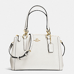 COACH F36704 - MINI CHRISTIE CARRYALL IN CROSSGRAIN LEATHER IMITATION GOLD/CHALK