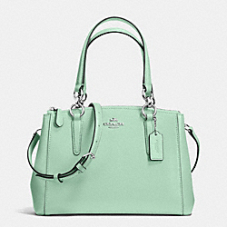 MINI CHRISTIE CARRYALL IN CROSSGRAIN LEATHER - f36704 - SILVER/SEAGLASS