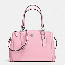 MINI CHRISTIE CARRYALL IN CROSSGRAIN LEATHER - f36704 - SILVER/PETAL
