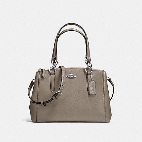 b622b63bc9bb1 COACH F36704 - MINI CHRISTIE CARRYALL IN CROSSGRAIN LEATHER - SILVER ...