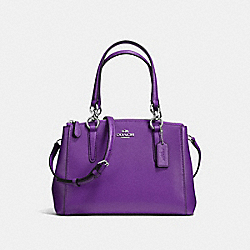 COACH F36704 - MINI CHRISTIE CARRYALL IN CROSSGRAIN LEATHER SILVER/PURPLE