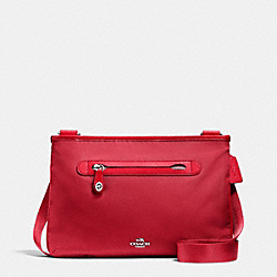 COACH F36707 - SMALL CROSSBODY SV/TRUE RED