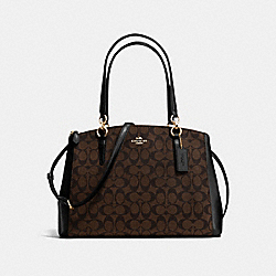 COACH F36721 Christie Carryall In Signature IMITATION GOLD/BROWN/BLACK