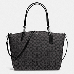 COACH F36722 - KELSEY SATCHEL IN SIGNATURE SILVER/BLACK SMOKE/BLACK