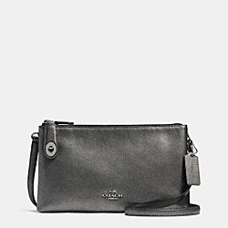 COACH F36745 - CROSBY CROSSBODY IN METALLIC PEBBLE LEATHER ANTIQUE NICKEL/GUNMETAL