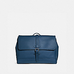 HUDSON MESSENGER - COACH f36810 - MIDNIGHT NAVY/BLACK ANTIQUE NICKEL