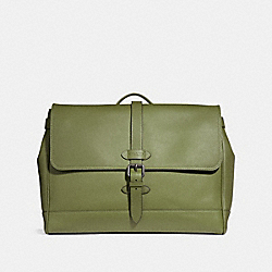 COACH F36810 Hudson Messenger DARK OLIVE/BLACK ANTIQUE NICKEL