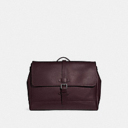COACH F36810 Hudson Messenger OXBLOOD/BLACK ANTIQUE NICKEL