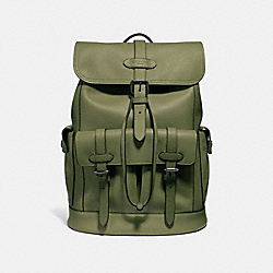 HUDSON BACKPACK - f36811 - Dark Olive/Black Antique Nickel