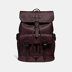 HUDSON BACKPACK - F36811 - OXBLOOD/BLACK ANTIQUE NICKEL
