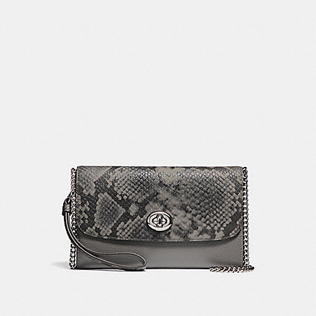 COACH F36832 CHAIN CROSSBODY HEATHER-GREY/SILVER