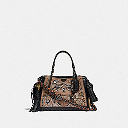 COACH F36840 Dreamer 21 In Signature Canvas With Tattoo BP/TAN BLACK