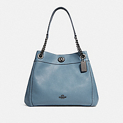 COACH F36855 Turnlock Edie Shoulder Bag CHAMBRAY/DARK GUNMETAL