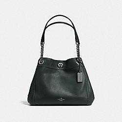 COACH F36855 Turnlock Edie Shoulder Bag DK/IVY