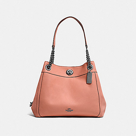 COACH F36855 TURNLOCK EDIE SHOULDER BAG MELON/DARK-GUNMETAL