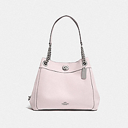 COACH F36855 Turnlock Edie Shoulder Bag SV/ICE PINK
