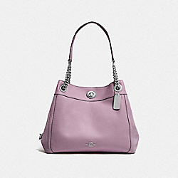 COACH F36855 Turnlock Edie Shoulder Bag SV/JASMINE