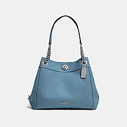 COACH F36855 Turnlock Edie Shoulder Bag SV/SLATE