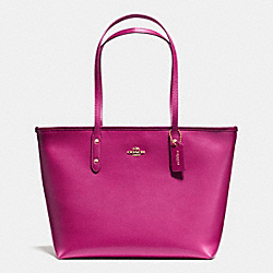 COACH F36875 City Zip Tote In Crossgrain Leather IMCBY